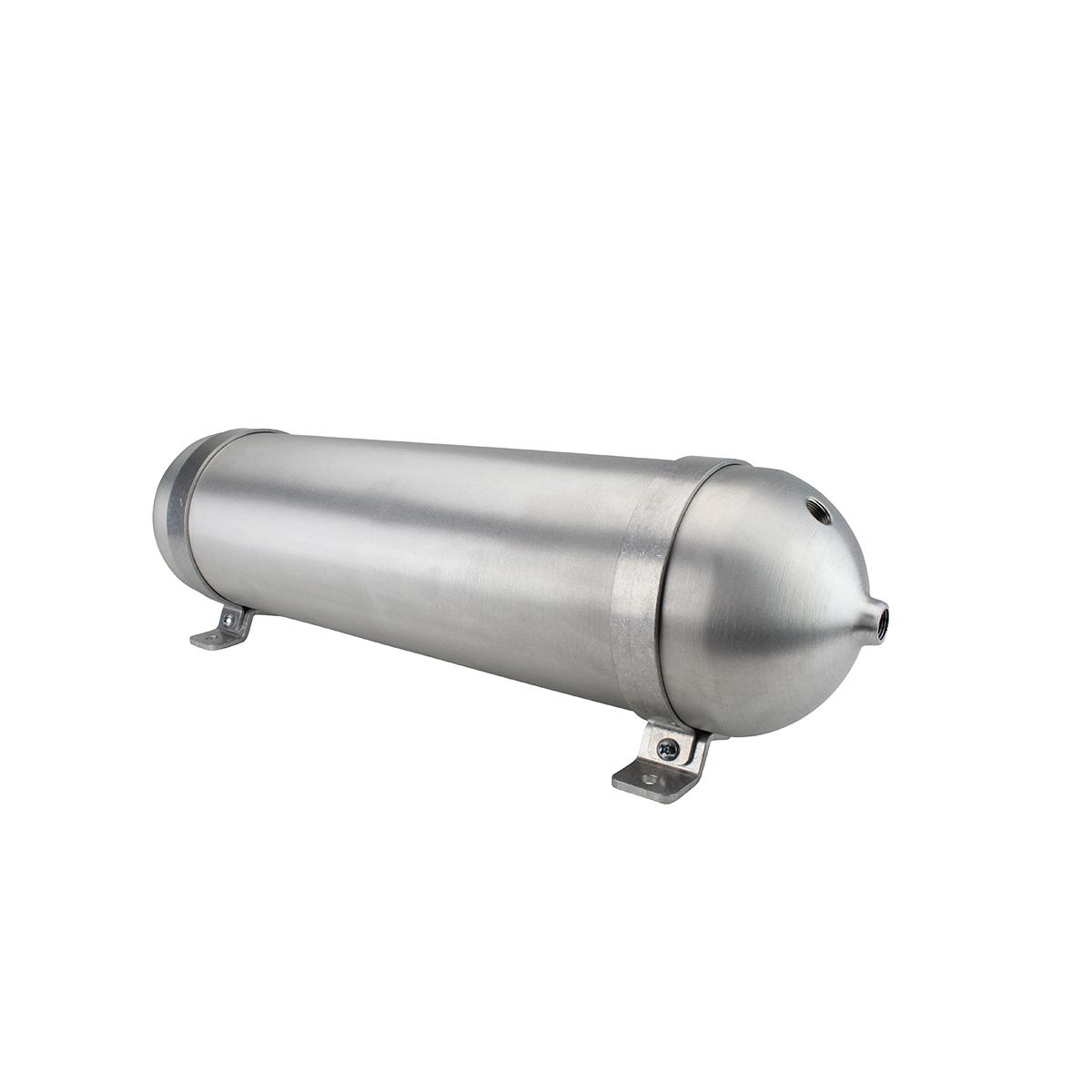 """SA524038-01 Seamless Tanks Aluminum Air Tank 24"""" Length 5.562"""" Diameter, (4) 3/8"""" Ports (1) 1/4"""" Port, 200psi Rated, Actual Volume 2.04 Gallons"""