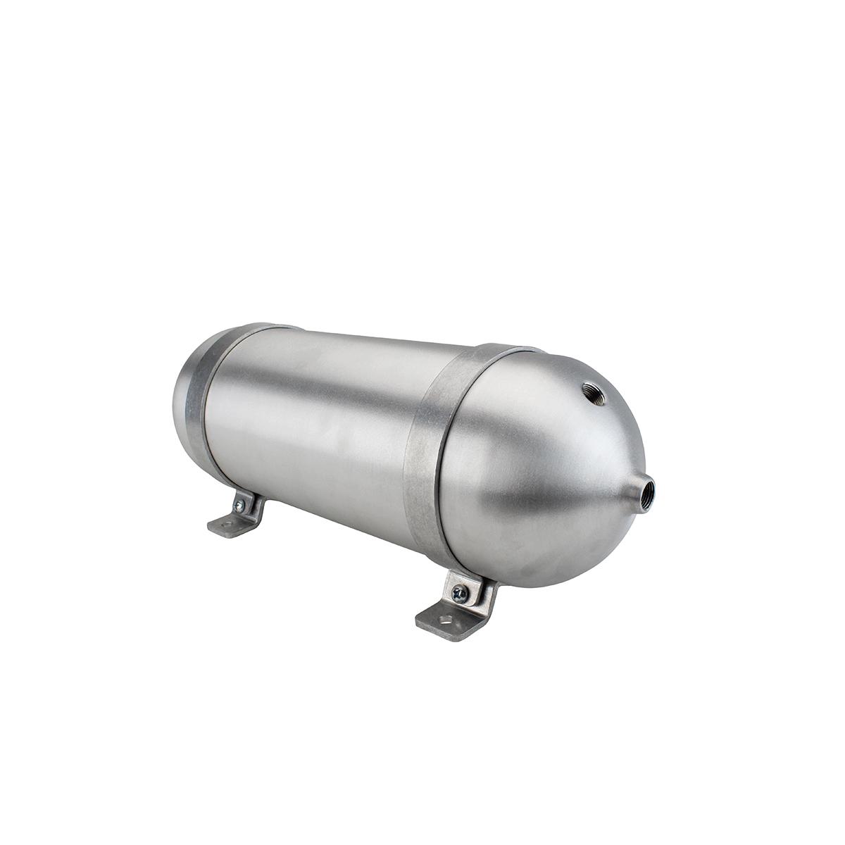 """SA518038-01 Seamless Tanks Aluminum Air Tank 18"""" Length 5.562"""" Diameter, (4) 3/8"""" Ports (1) 1/4"""" Port, 200psi Rated, Actual Volume 1.47 Gallons"""