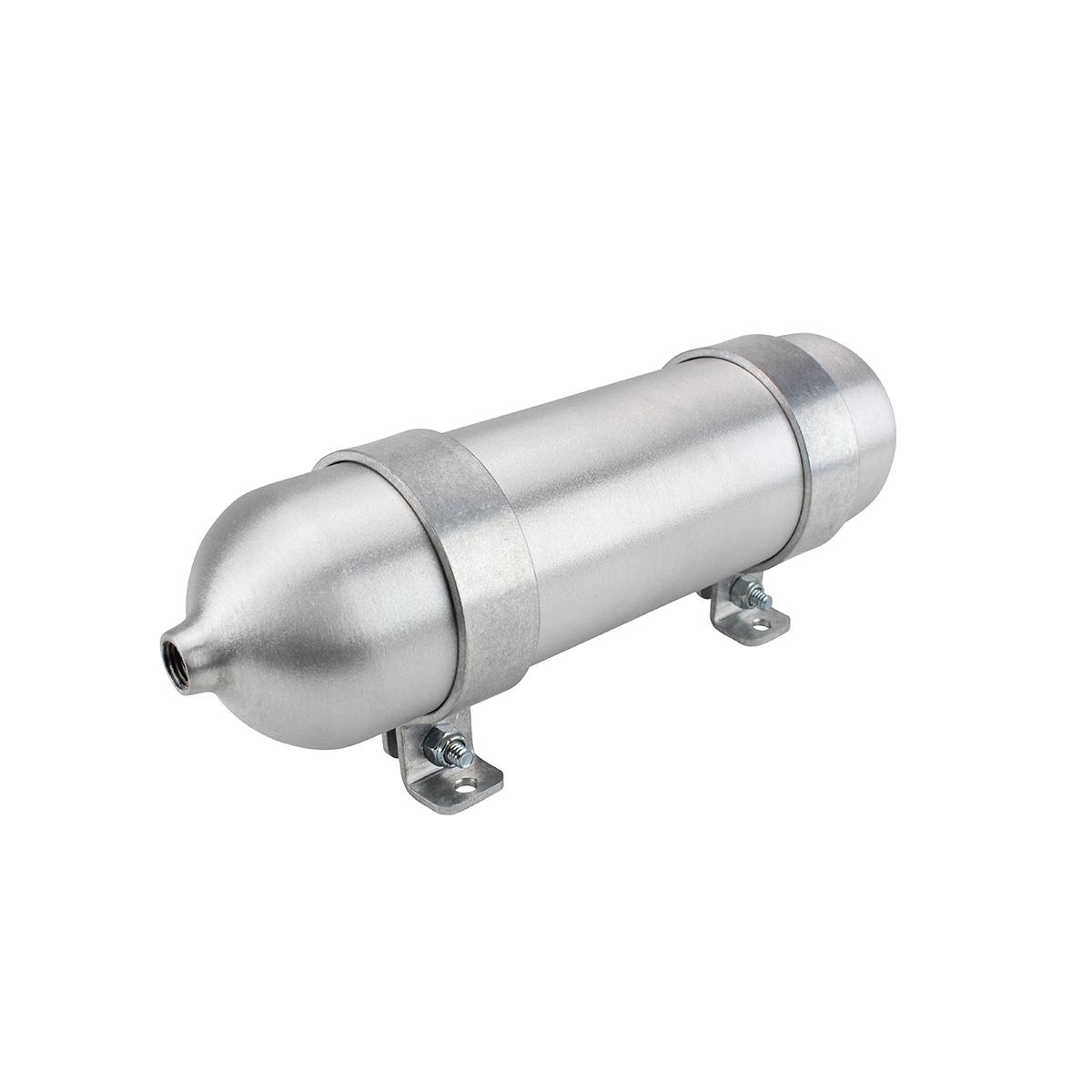 """SA212038-01 Seamless Tanks Aluminum Air Tank 12"""" Length 2.875"""" Diameter, (2) 3/8"""" Ports, 200psi Rated, Actual Volume .243 Gallons"""