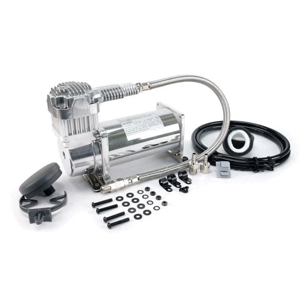 VIA38033 Viair 380C CHROME Compressor 100% Duty @ 100psi, 55% Duty @ 200psi