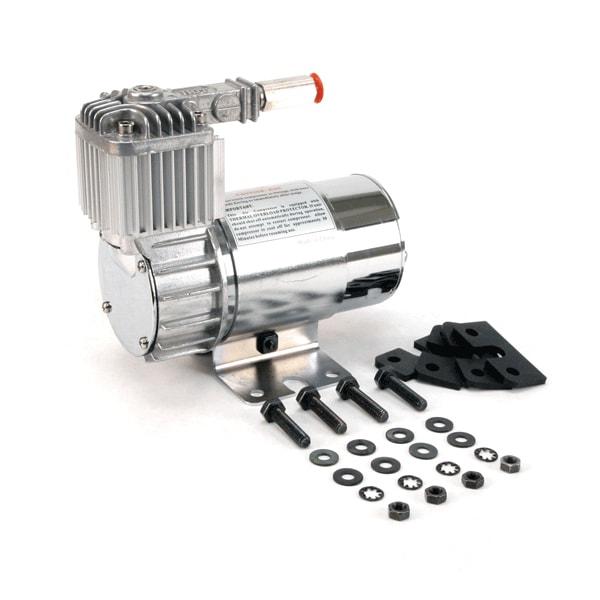 VIA10016 Viair 100C CHROME Compressor w/. Omega Style Mounting Bracket